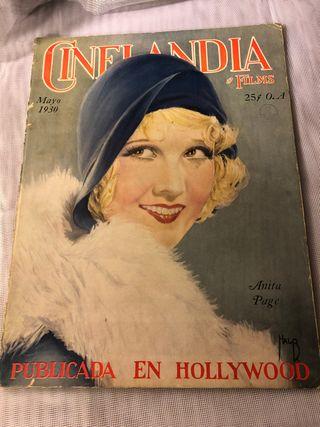 REVISTA ANTIGUA CINELANDIA MAYO 1930