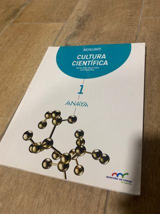 Libro de cultura científica 1 bachillerato