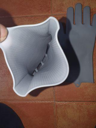 guantes de silicona para limpieza