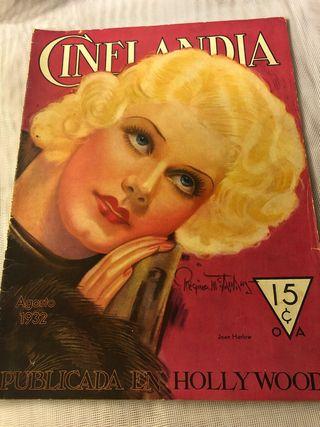 REVISTA ANTIGUA CINELANDIA AGOSTO 1932