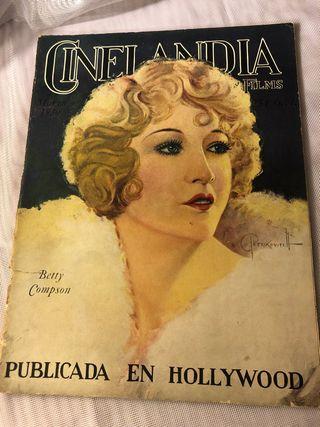 REVISTA ANTIGUA CINELANDIA MARZO 1930