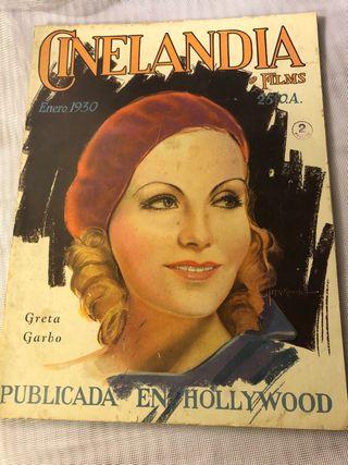 REVISTA ANTIGUA CINELANDIA ENERO 1930