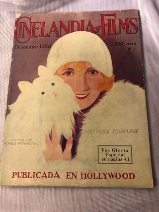 REVISTA ANTIGUA CINELANDIA DICIEMBRE 1928