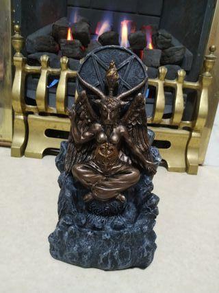 Baphomet Backflow Incense Burner 18cm