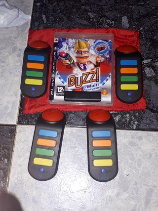 mandos buzz ps3 inalambricos y juego