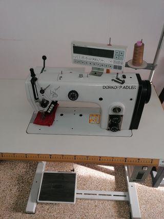 Maquina coser plana doble arrastre