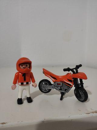 playmobil niño motocross
