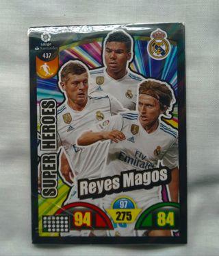 Cromo Adrenalyn/Super héroes (Real Madrid)