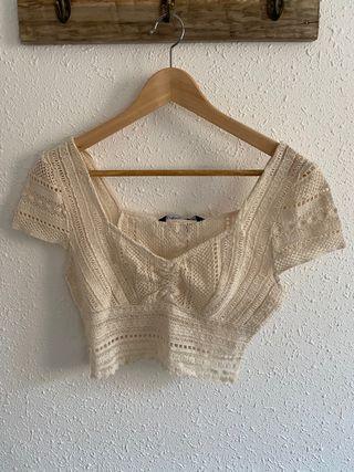 Crop top crochet de Zara