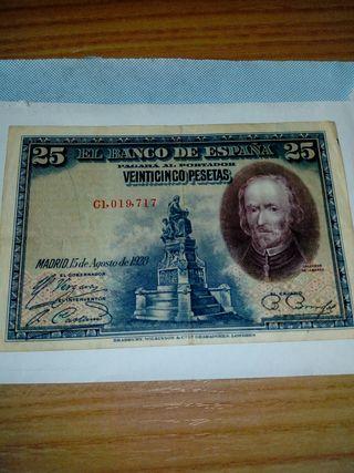 25 Pesetas del año 1928