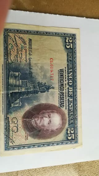 25 pesetas de 1928