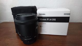 Objetivo Sigma 35mm nuevo en su caja