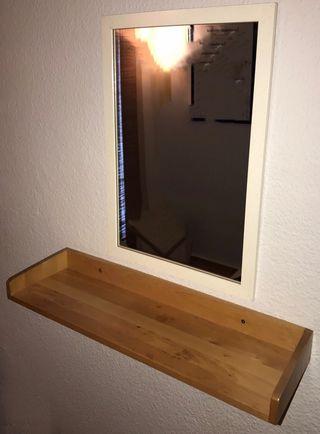 Espejos y baldas IKEA