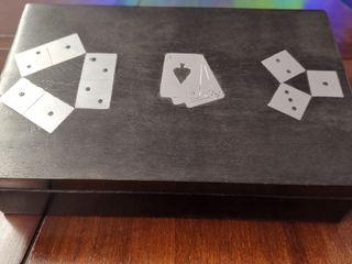 Caja de juegos de madera