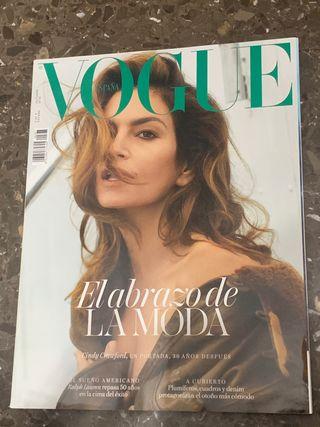 Revista de moda Vogue. Cindy Crawford.