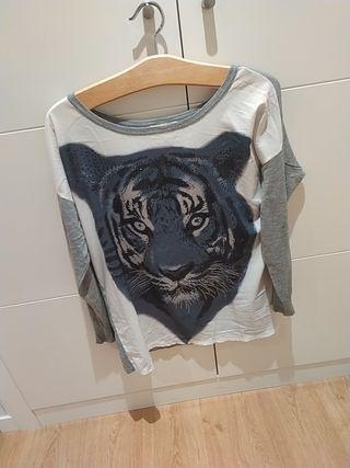 jersey mujer dibujo tigresa