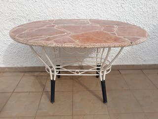 75€ Mesa de marmol con hierro forjado