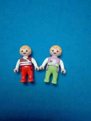 numero 728 playmobil pareja niños bebes bebe