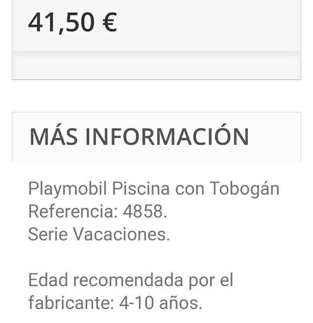 Playmobil piscina 4858
