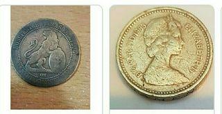 Monedas EXTRANJERAS ANTIGUAS