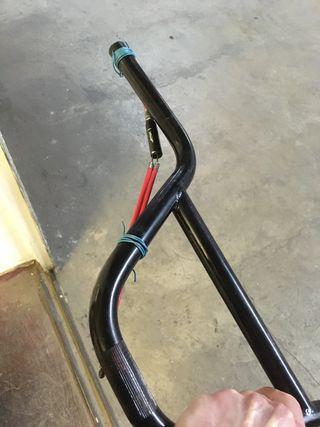 """Manillar BMX 7,5"""" y cable freno delantero rotor"""