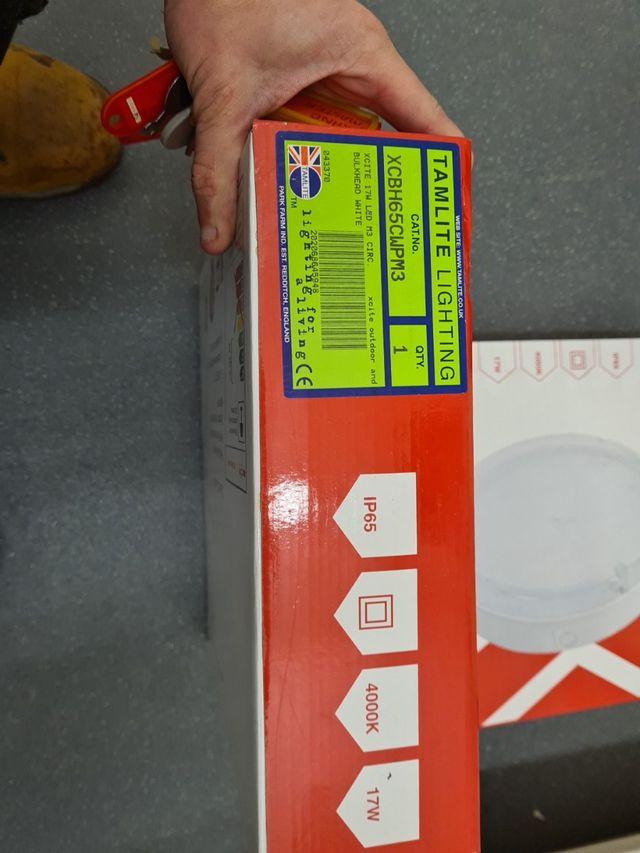 Xcite 17W LED Emergency Circular Bulkhead White /