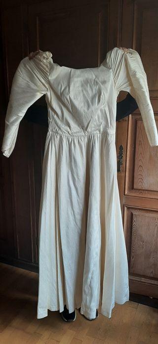 Vestido novia seda salvaje