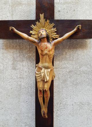 Crucifijo Talla Madera Siglo XVIII