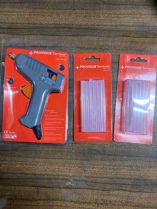 Pistola termo encoladora + 2 repuestos