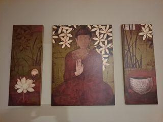 Triptico Buda en madera