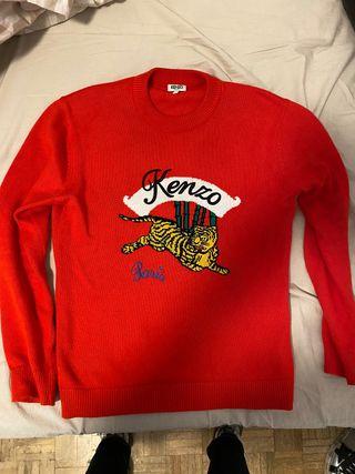 Jersey Kenzo rojo con motivo de tigre