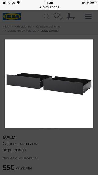 CAJONES CAMA MALM IKEA