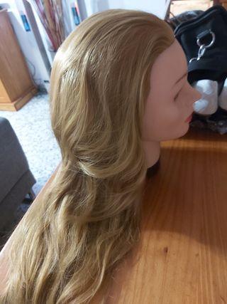 Cabeza maniquí peluquería