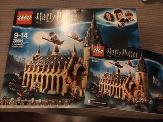 Caja e instrucciones Lego Hall Hogwarts