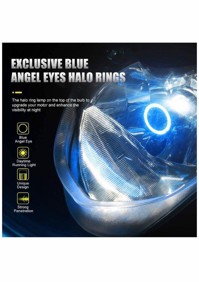 Bombilla H4 Led para motos con Ojos de Ángel