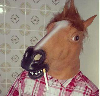 Mascara caballo disfraz