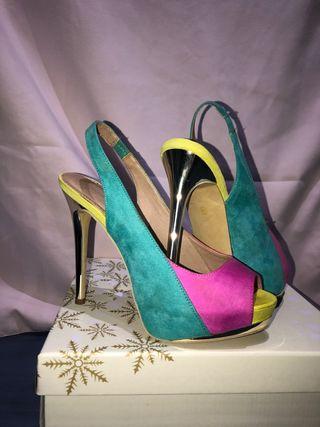 Zapatos tacón colores