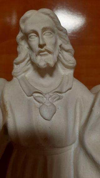 Escultura de escayola sagrado corazón