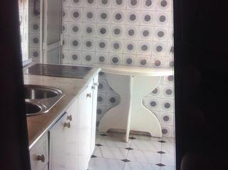 Mesa redonda de cocina plegable, sillas...