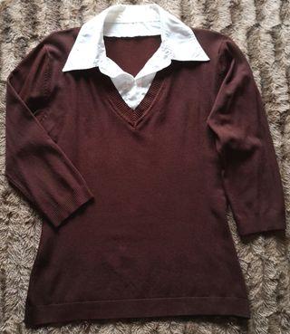 Jersey con cuello de camisa