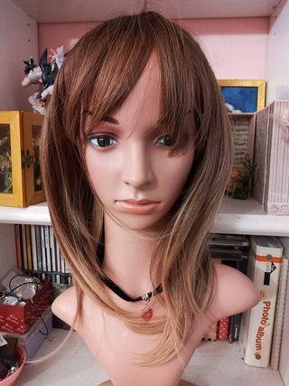 peluca rubia mujer nueva