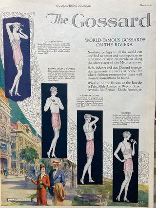 Láminas publicitarias moda americana 1926