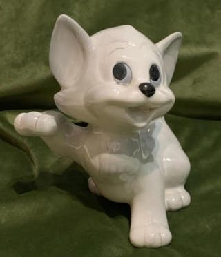 FIGURA PORCELANA GATO SELLO WALT DISNEY