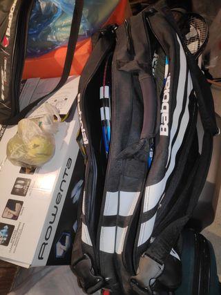 Raquetas y fundas de tenis