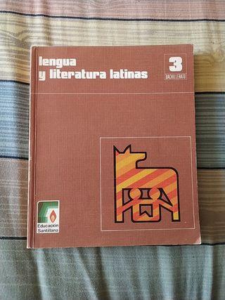 Libro latín 3°Bachillerato Santillana 1980