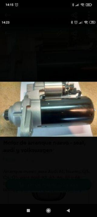 motor de arranque nuevo para Audi, Seat y vw