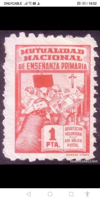 sellos mutualidad nacional enseñanza primaria
