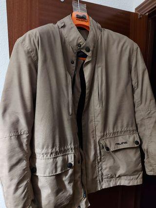 chaqueta moto protección L color marrón clarito