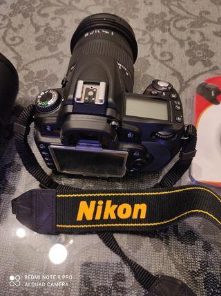 Equipo de fotografía Nikon D90, objetivos varios .