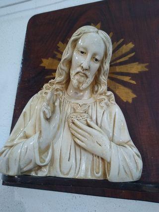 Sagrado Corazón de Jesús Escayola Vintage